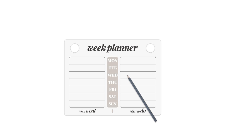week planner ugeplan